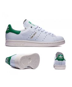 e5f89553700 Adidas Originals Stan Smith White And Green Trainers Sale UK