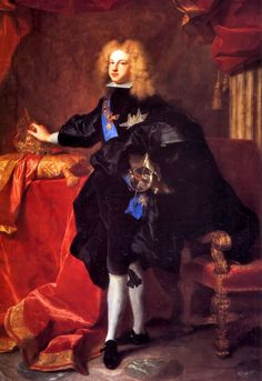Felipe V, King of Spain (born 1683, acceded 1700, died 1746), painting (1700), by Hyacinthe Rigaud (1659-1743).