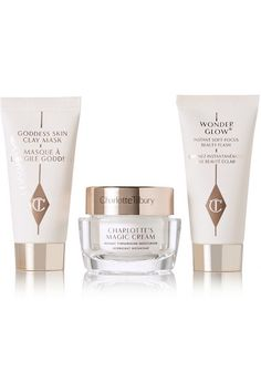 The perfect present for frequent jetsetters, Charlotte Tilbury's 'The Gift of Goddess Skin' set contains three of the label's most coveted youth-enhancing skincare products, each in a travel size. Specially developed with Bio-Nymph Peptide Complex, these formulas combat signs of aging like fine lines and wrinkles, while leaving your complexion with a radiant glow. Shop it now at NET-A-PORTER.COM #CharlotteTilbury