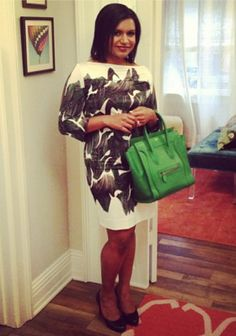 Mindy Kaling on set for The Mindy Project. So cute!