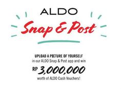 A chance to win prizes from ALDO! Join SNAP & POST Photo Contest!  All you have to do is simply SNAP a picture of your fashionable outfit with your favourite Aldo Shoes, describe why you love Aldo, and POST to app! Contest will be ended on November 30th, 2013. Good luck peeps! Win Prizes, Aldo Shoes, Pictures Of You, Photo Contest, Peeps, 30th, November, Join, App