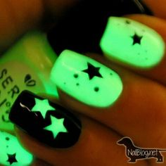 Glow in the dark nails! So cool!