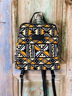 Geometric Graphic, Christmas Bags, Make A Gift, Printed Bags, Ankara, Leather Backpack, Fashion Backpack, Backpacks, Etsy