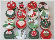 Christmas Party Cupcakes by The Clever Little Cupcake Company (Amanda), via Flickr