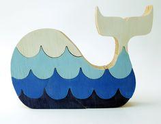 Puzzle whale Children's game wood toy wooden por berkshirebowls
