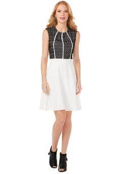02819fba103 Cato Fashions Lace Paneled Flare Dress  CatoFashions Plus Dresses