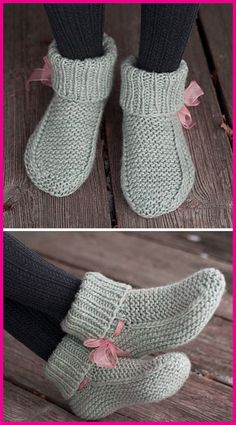 Knit Slippers Free Pattern, Crochet Slipper Pattern, Crochet Shoes, Knitted Booties, Knitted Slippers, Beginner Knitting Patterns, Baby Knitting Patterns, Knitting Socks, Free Knitting