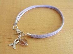 Lavender Awareness Cotton Bracelet  Cancer by Twenty2Roses on Etsy