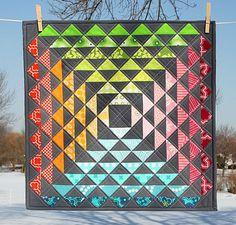 Quilt - more half square triangles