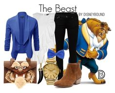 """""""The Beast"""" by leslieakay ❤ liked on Polyvore featuring Yves Saint Laurent, Exclusive for Intermix, Nixon, Simone I. Smith, disney and disneybound"""