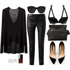 A fashion look from April 2013 featuring Helmut by Helmut Lang sweaters, GUESS by Marciano pants and Agent Provocateur bras. Browse and shop related looks.
