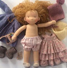 Купить Ульяна - голубой, Ульяна, вальдорфская кукла, waldorfdoll, waldorf doll, waldorf puppe, taisoid