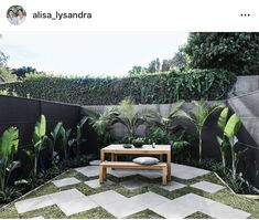 This week on The Design Duo, a renovation series hosted by The Block's Alisa & Lysandra, was a stunning courtyard reveal; with SlimWall modular fencing! Backyard Privacy, Backyard Landscaping, Outdoor Tiles, Outdoor Decor, Vogue Home, Boundary Walls, Garden Wall Art, Modular Walls, Privacy Walls