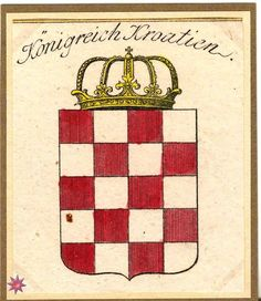 Coat of Arms, Kingdom of Croatia House Of Savoy, Coat Of Arms, My Favorite Things, Gotha, Croatia, Family Crest, The Sentence
