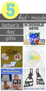 5 kid-made father's day gifts to make this year!  They make great last-minute father's day gifts, too!