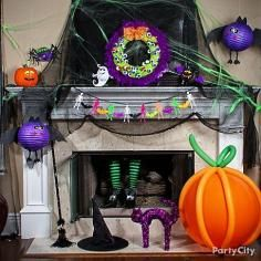 Halloween decorations / IDEAS & INSPIRATIONS Dollar Store Halloween Front Porch Decor - CotCozy