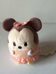 Disney Store Japan Minnie Mouse Ufufy Scented Small Plush New with Tags