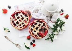 Dessert for two! Who you bringing?  From @hospitality_est -  This  #Raspberry #Strawberry #Pie #foodphotography #foodstagram #breakfast #tasty #foodideas #strawberrypie #goodfood #foodie #foodlover #delicious #yummyinmytummy #breakfastisserved #food