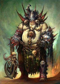 [Fantasy] - [digitalart/paintings/fantasy] - Nurgle Champion - by: AlexBoca