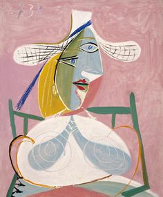 """atmospheric-minimalism: """"  femme assise, by Pablo Picasso """""""