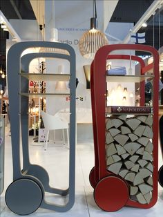 Grey and red Fleimio Trolleys on the Maison & Objet sep 2016.