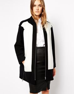 Enlarge French Connection Coat in Color Block