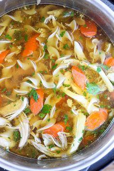 Instant Pot Pressure Cooker Chicken Noodle Soup