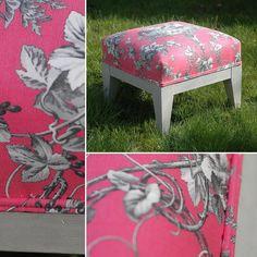 A vendre! Repose-pied @urwedo #mobilier #achat #designinspiration #brocante #tapissier #rose #textiles #meuble #me #instagram #instagay #instagood #instalike #instastyle #instalove