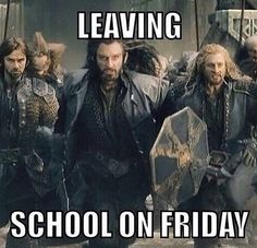 More like on the last day of school