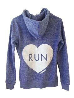 Love to Run Endure Running Hoodie #runner #gifts #fitness #apparel #sparkly #glitter #silver #run