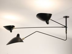 Ceiling lamp by Editions Serge Mouille design Serge Mouille Metal Ceiling, Ceiling Lamp, Ceiling Lights, Autocad, Serge Mouille, Dining Table Lighting, Art Français, Steel Paint, Perriand