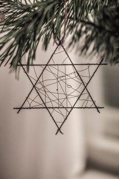 DIY Christmas tree decorations // DIY joulukuusen koriste http://bloggaajanvaimo.blogspot.fi/2014/12/rautalangasta-vaannettya.html