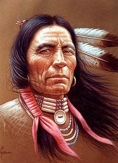 by Miguel Paredes - Native American- Warrior.by Miguel Paredes – Native American Native American Tattoos, Native Tattoos, Native American Warrior, Native American Paintings, Native American Pictures, Native American Beauty, American Indian Art, Native American Tribes, Native American History