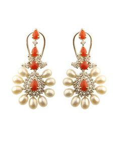 Indian Jewellery and Clothing: Diamond jhumkas from Orra jewellery
