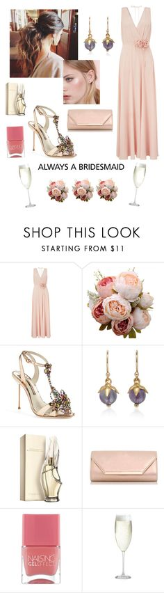 """""""Always a bridesmaid contest"""" by sunshower315 on Polyvore featuring Monsoon, Sophia Webster, Annette Ferdinandsen, Oysho, Donna Karan, Dorothy Perkins, Nails Inc. and Crate and Barrel"""