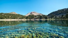 Lake Helen, Lassen National Forest, California, the mountains, the lake, nature