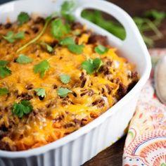 Nacho casserole, because Doritos make everything better!