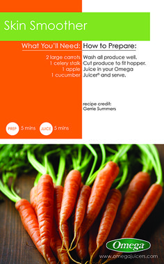 Carrots have lines but you don't have to!  Enjoy a Skin Smoother. #ResolutionsMadeEasy