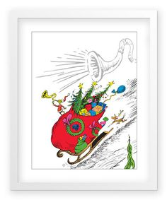 The Art of Dr. Seuss The Grinch's Heart Art Print by Dr. Seuss Boutique: I want this for our entry way wall gallery!