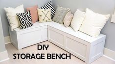 """Get wonderful suggestions on """"laundry room storage diy budget"""". Get wonderful suggestions on """"laundry room storage diy budget"""". Corner Bench Kitchen Table, Kitchen Corner Bench, Corner Bench With Storage, Kitchen Storage Bench, Corner Bench Seating, Storage Bench Seating, Dining Room Bench, Laundry Room Storage, Kitchen Benches"""