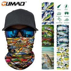 9e6a99bfe2b99 3D Fish Seamless Magic Neck Gaiter Face Mask Shield Ture Balaclava Running  Cycling Fishing Bandana Headband Scarf Men Women Review