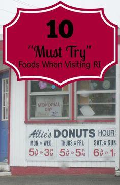 10 Must Try Foods in Rhode Island #VisitRhodeIsland