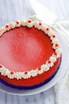 Red Velvet Cheesecake | Grandbaby Cakes Valentine's day recipes
