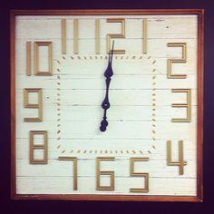 Large wall clock. #furniturehunters #white&gold