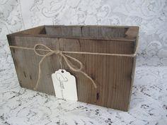 Handmade Reclaimed Wooden Box - Rustic Centerpiece - Wooden Crate - Rustic Box