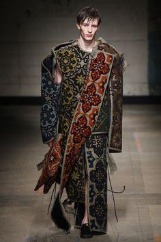 Craig Green Fall 2017 Menswear collection _ Deconstructed Uniform _ Damask
