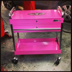 Pink Tool Cart, for all the tools that I don't have Pink Tool Box, Pink Purple, Hot Pink, Pink Power, Everything Pink, Pink Princess, Color Rosa, Girly Things, Pretty In Pink