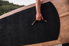 Our leather carrying handles make our wood SUPs the easies to carry.