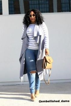 Nordstrom Jeans - Plus Size Clothing for Women - Chicest Of Them All Vest - Granite - Society+ - Society Plus - Buy Online Now! Curvy Girl Fashion, Look Fashion, Autumn Fashion, Fashion Outfits, Fashion Tips, Fashion Trends, Fashion Ideas, Skinny Fashion, Fashion 2017