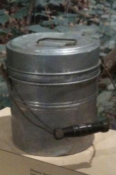 Coal miners bucket- Just like my Daddy's! He always had a special treat in it for me!!!